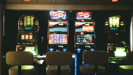 slot machines in gambling hall